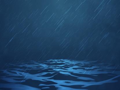 DIGITAL WAVES OCEAN STORM