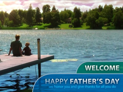 FATHER'S DAY DOCK WELCOME