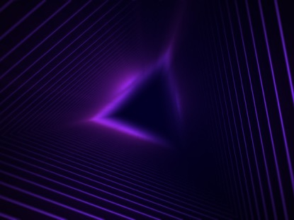 GEO DEPTHS PURPLE TRIANGLE