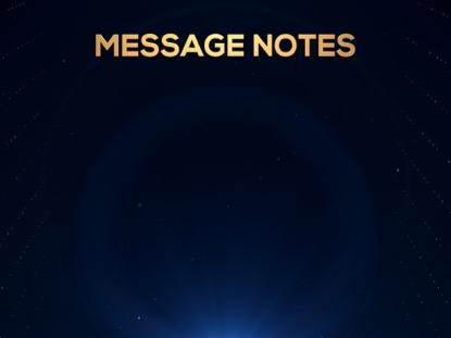 GOLDEN DRIFT MESSAGE NOTES