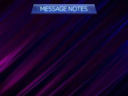 LIGHT CURTAIN: MESSAGE NOTES