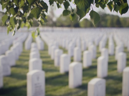MILITARY CEMETERY, LEAVES WIND