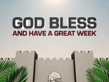 PALM SUNDAY JERUSALEM GOD BLESS