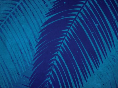 PALM SUNDAY WATERCOLORS BLUE ZOOM