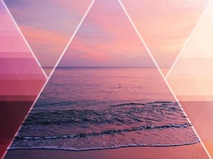 PRISM WAVES WARM SUNSET
