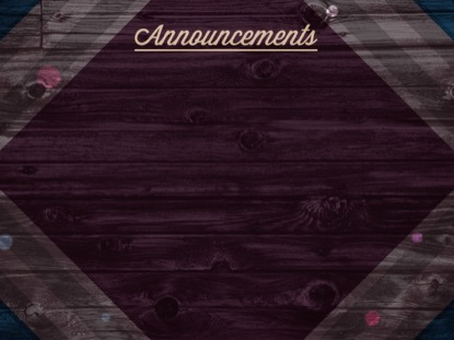 RUSTIC WOOD ANNOUNCEMENTS