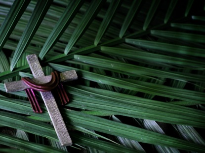 SILVER CROSS PALM SUNDAY BRANCHES