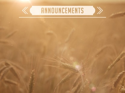 SUMMER WHEAT ANNOUNCEMENTS