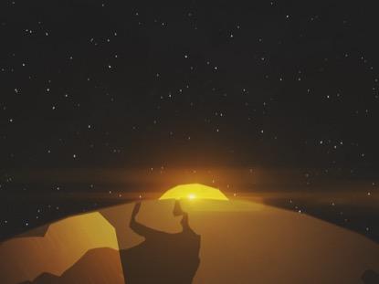 WINTER LIGHT EARTH STARS