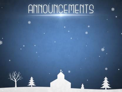 WINTER SNOW ANNOUNCEMENTS