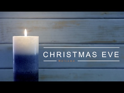 ONE BLUE CANDLE CHRISTMAS EVE