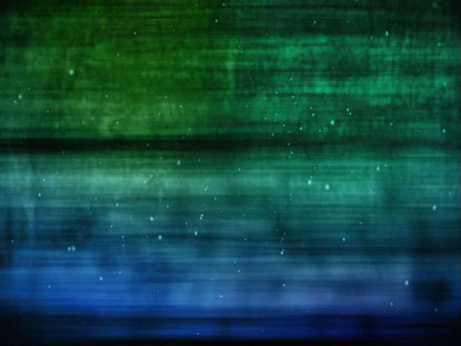 BLUE GREEN PARTICLE STREAKS