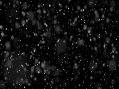 FALLING SNOW IN DARK