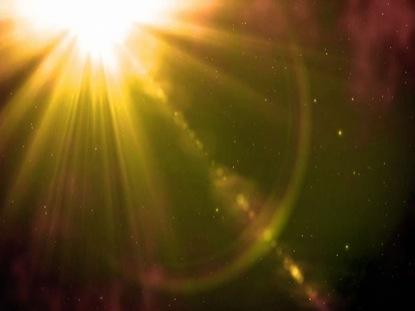 ORANGE SUN LENS FLARES
