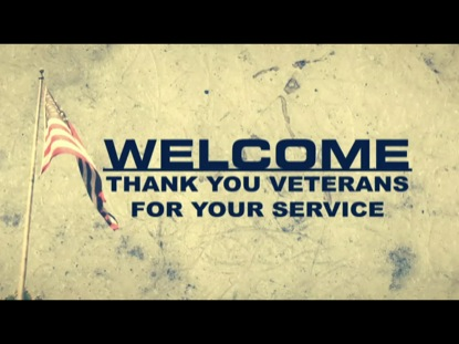 THANK YOU VETERANS WELCOME SCREEN