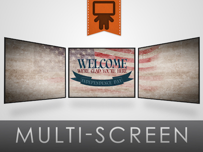 VINTAGE INDEPENDENCE DAY WELCOME MOTION TRIPLE WIDE