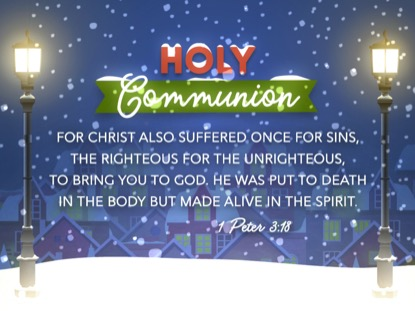 CHRISTMAS VILLAGE COMMUNION MOTION