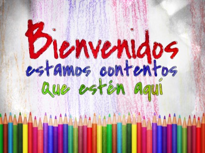 COLOR PENCILS WELCOME MOTION SPANISH