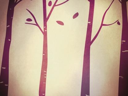 FALL BIRCH TREES PURPLE 1 MOTION
