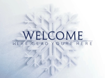FROSTED SNOWFLAKE WELCOME MOTION