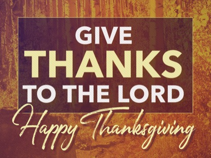 GIVE THANKS THANKSGIVING MOTION
