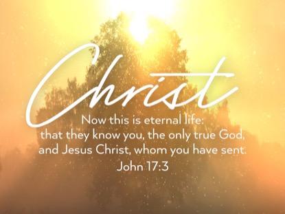 ONLY CHRIST JOHN MOTION