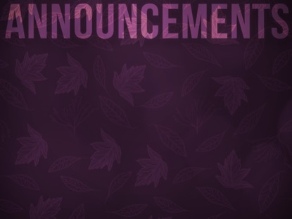 PURPLE FALL ANNOUNCEMENTS MOTION