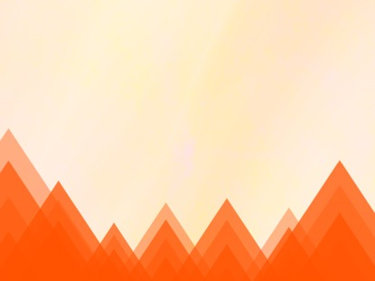 RISING TRIANGLES ORANGE MOTION