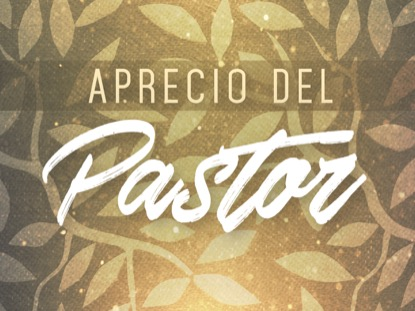 SEASONAL DISPLAY PASTOR APPRECIATION MOTION - SPANISH