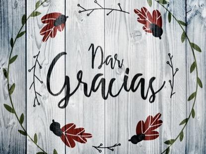 THANKSGIVING ART THANKS MOTION - SPANISH