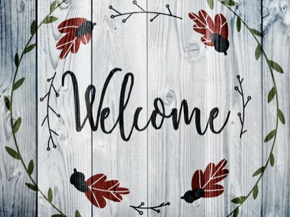 THANKSGIVING ART WELCOME MOTION