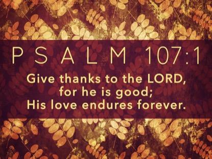 THANKSGIVING GRATITUDE PSALM MOTION