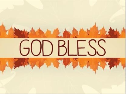 THANKSGIVING LEAVES GOD BLESS