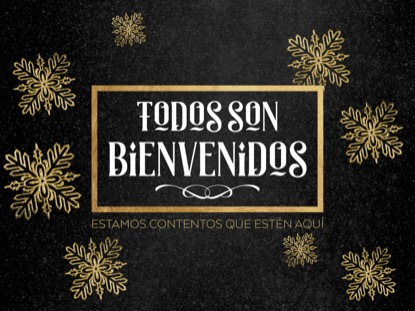 TRENDY CHRISTMAS WELCOME MOTION SPANISH