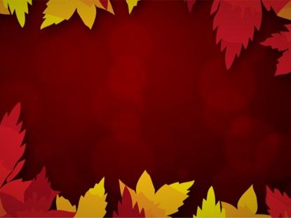 LEAF VIGNETTE RED