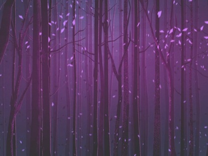 AUTUMN FOREST PURPLE CLOSE BLANK