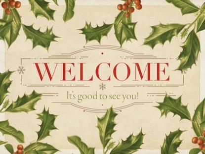 CHRISTMAS BOTANICAL WELCOME