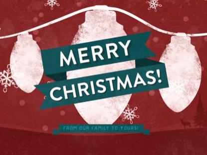 CHRISTMAS ILLUSTRATION MERRY CHRISTMAS