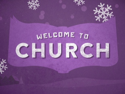 CHRISTMAS ILLUSTRATION WELCOME TO CHURCH