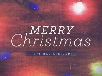 CHRISTMAS LIGHTS MERRY CHRISTMAS