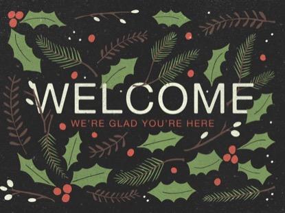 CHRISTMAS PINE WELCOME