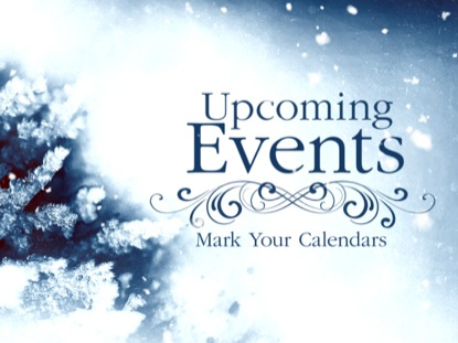 COLORFUL WINTER UPCOMING EVENTS