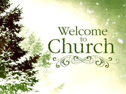COLORFUL WINTER WELCOME TO CHURCH