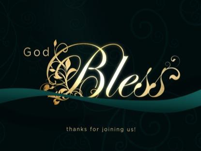 ELEGANT RIBBON GOD BLESS