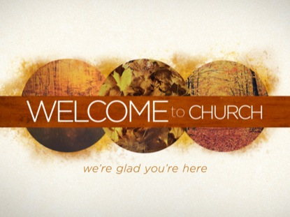 FALL CIRCLES WELCOME TO CHURCH