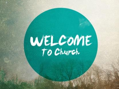 GEOMETRIC WELCOME TO CHURCH