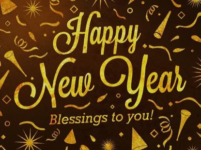 GOLD CONFETTI HAPPY NEW YEAR