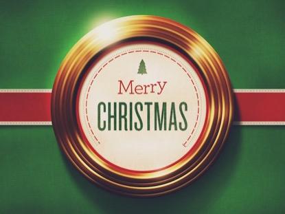 GOLDEN RINGS MERRY CHRISTMAS