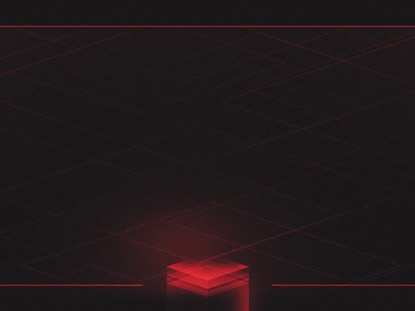 HOLOGRAPHIC CUBES RED