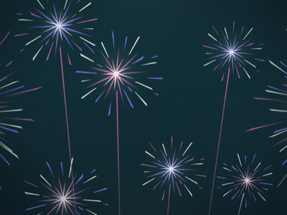 ILLUSTRATED FIREWORKS PURPLE